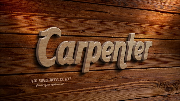 Карпентер 3d эффект стиля текста