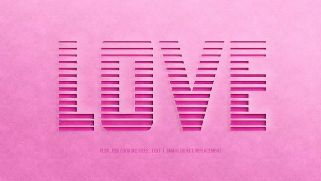 Любовный эффект стиля текста 3d