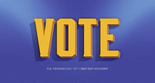 3dテキストスタイル効果に投票する