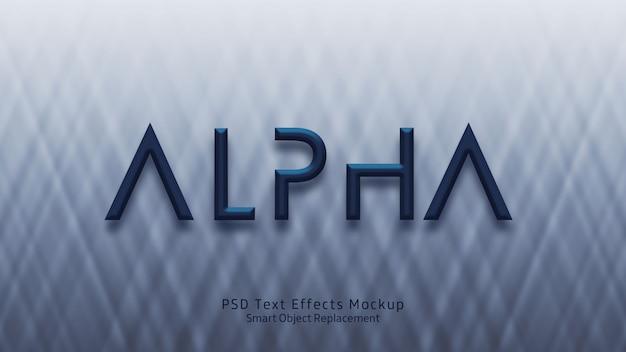 アルファ3dテキスト効果テンプレート