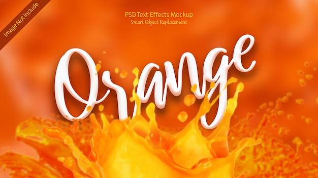 オレンジ色の3dテキスト効果テンプレート