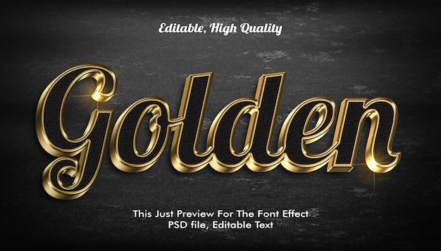 黄金の3dテキストスタイルの効果