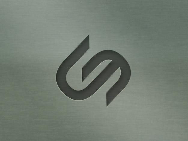 Логотип макет 3d модерн