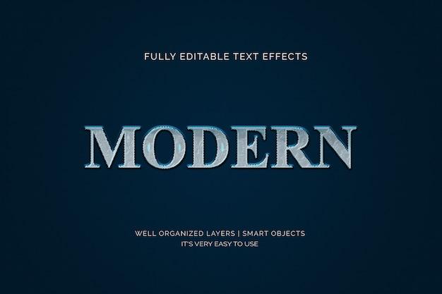 Современный эффект стиля текста 3d