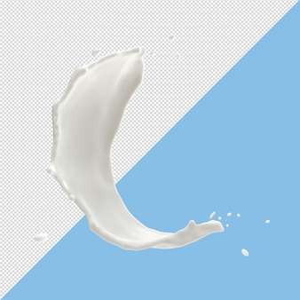 Молочные брызги капель 3d визуализации