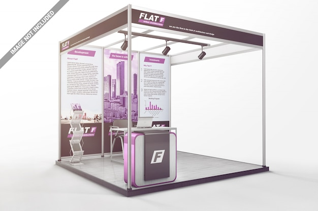 3x3 exhibition shell scheme graphics mockup