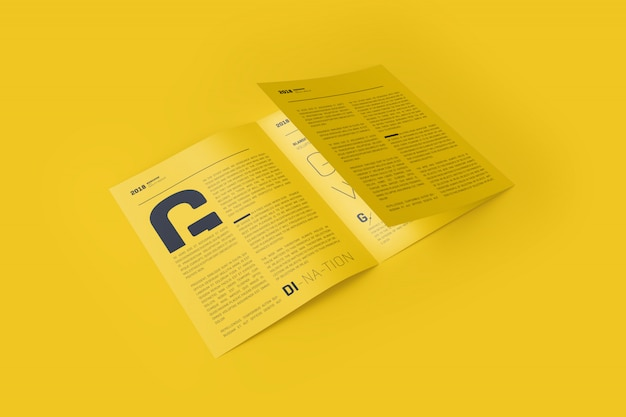3xa4 trifold brochure mock-up