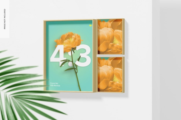 4:3 frame set mockup, perspective