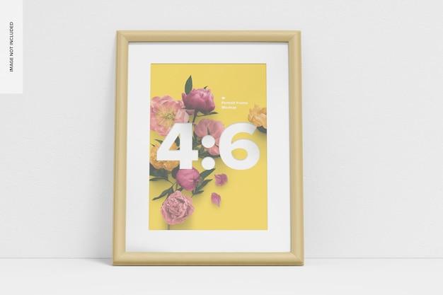 4:6 portrait frame mockup