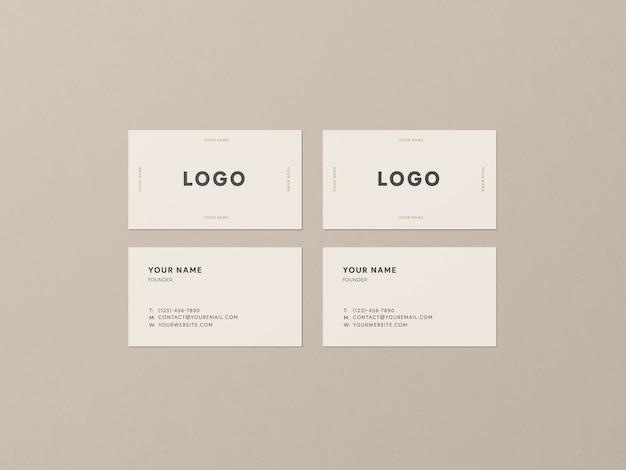 4 business cards mockup