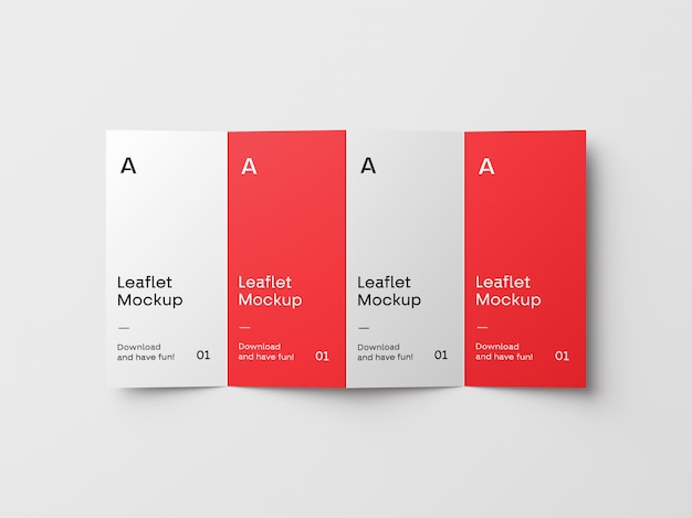 4-кратный макет брошюры
