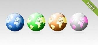 4 Free Globe Icons