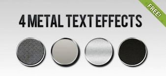 4 Free Metal Text Effect Styles
