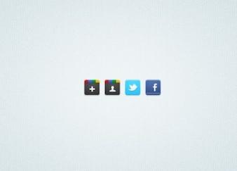 4 Social Media Icons