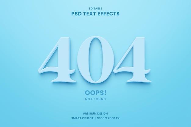 404 error page not found minimalist text effect