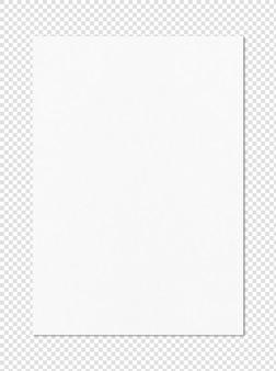 Макет листа белой бумаги формата а4