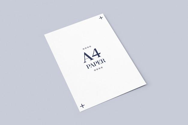 Укладка макета бумаги формата а4