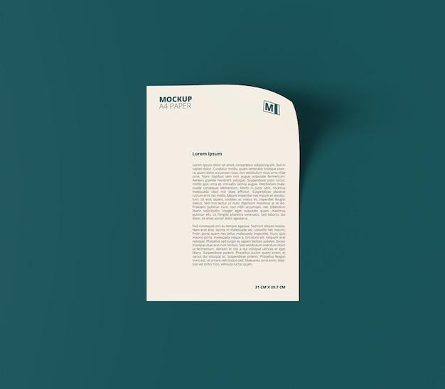 Вертикальный макет делового документа формата а4