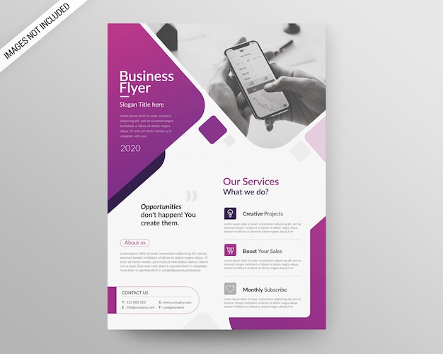 Шаблон бизнес-флаера а4