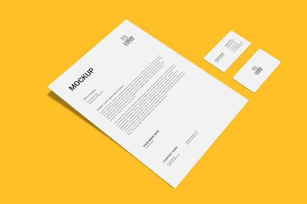 Макет страницы а4 и визитки