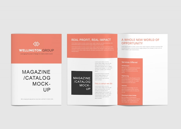 Брошюра а4 и макеты журналов