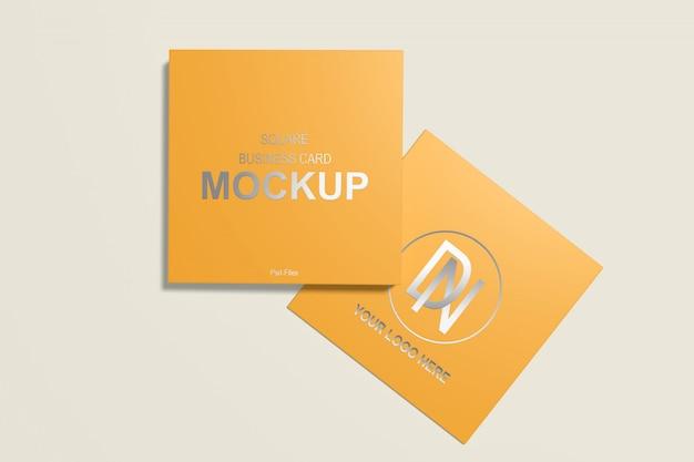 Квадратный макет визитки 4
