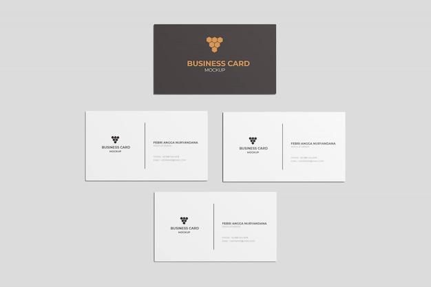 4 макета визитки верхний угол обзора