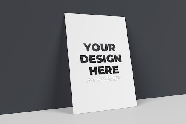 А4 макет постера.