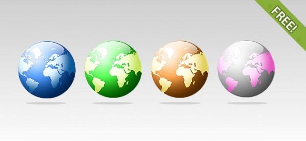 4 бесплатные иконки глобус