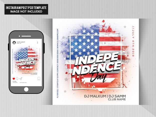 4th of july flyer template Premium Psd