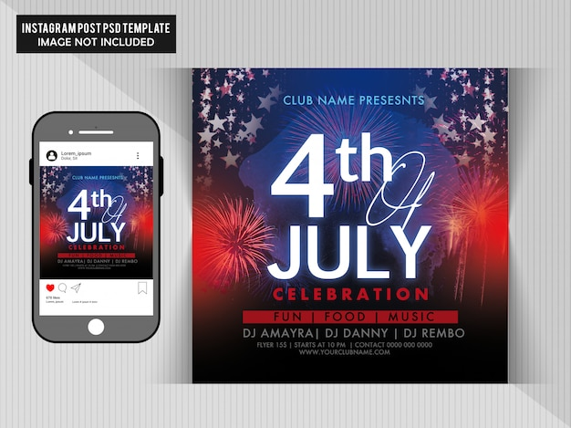 4th july party flyer