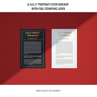 5.5x8.5'' portrait flyer mockup