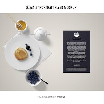 5.5x8.5'' portrait flyer mockup