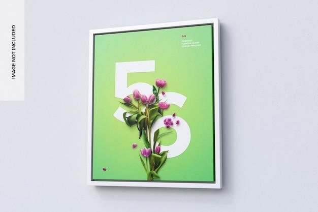 5 : 6 우측 뷰의 세로 프레임 모형