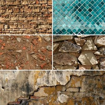 5 high resolution brick & tile textures