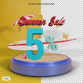 5-процентная летняя скидка на 3d визуализацию