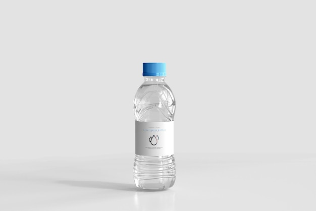 500ml fresh water bottle mockup
