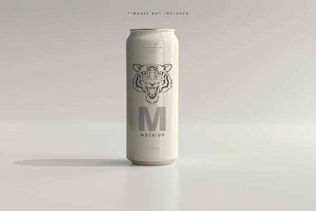 500ml sleek soda or beer can mockup