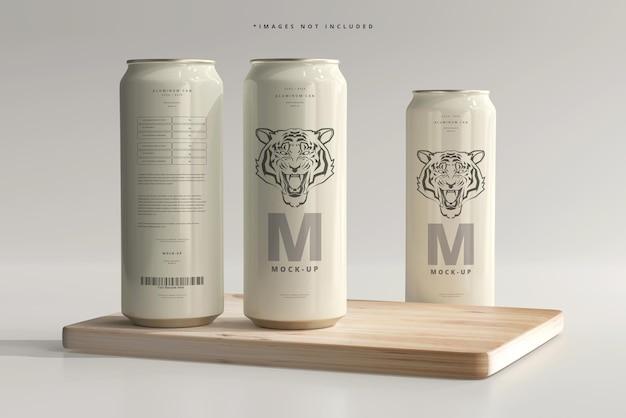 500ml sleek soda o beer can mockup