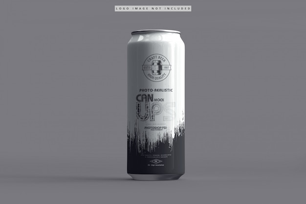 500ml soda can mockup