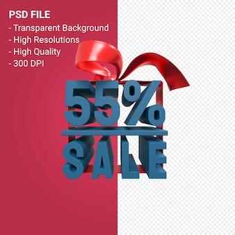 55-процентная распродажа с изолированным бантом и лентой