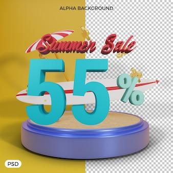 55-процентная летняя скидка предлагает 3d визуализацию