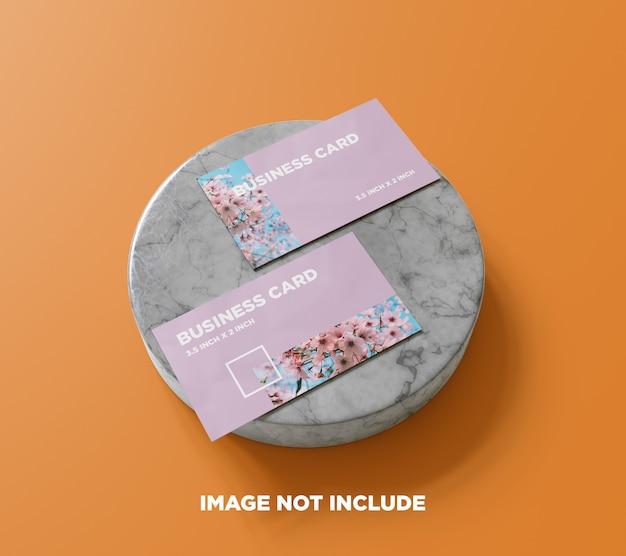 Сцена 5: макет визитки на мраморе