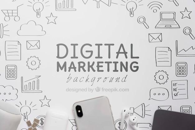 Цифровой маркетинг с 5g wi-fi соединение