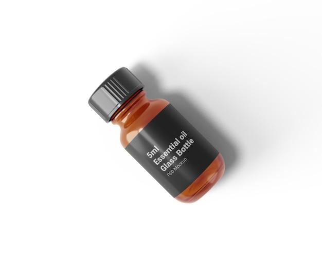 5mlエッセンシャルオイルガラス瓶モックアップ