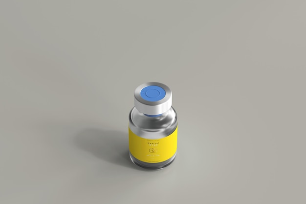 Flacone da 5 ml mock up