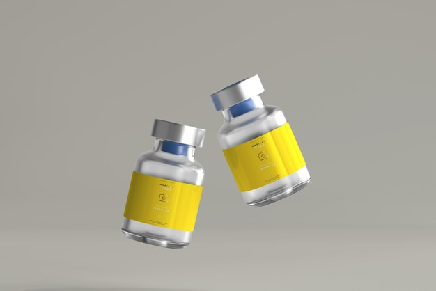 5ml vial bottle mock up