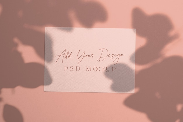 5x7 inches card mockup shadow overlay eucalyptus
