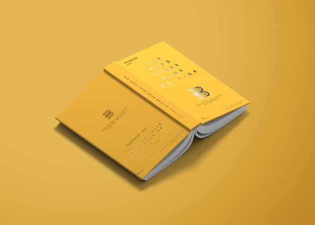 5x8 hard cover book mockup Premium Psd