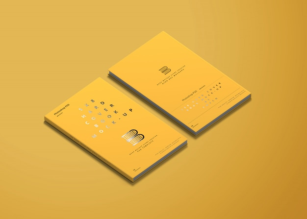 5x8 hard cover book mockup